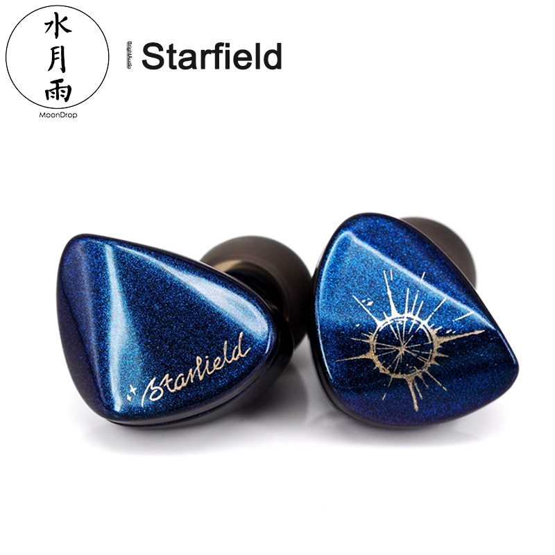 Moondrop Starfield HIFI الصوت الديناميكي في الأذن سماعة الكربون نانو أنبوب الحجاب الحاجز IEM مع 2 دبوس 0.78 مللي متر انفصال كابل
