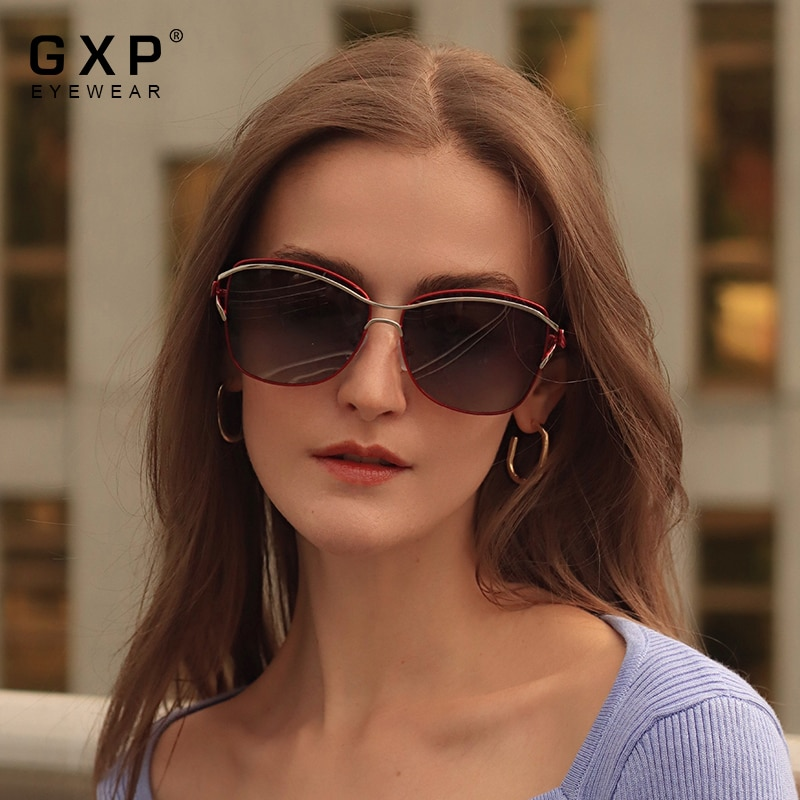 GXP 2021 Fashion Polarized UV400 Sunglasses For Women Elegant Butterfly Style Eyewear Ladies Gradien