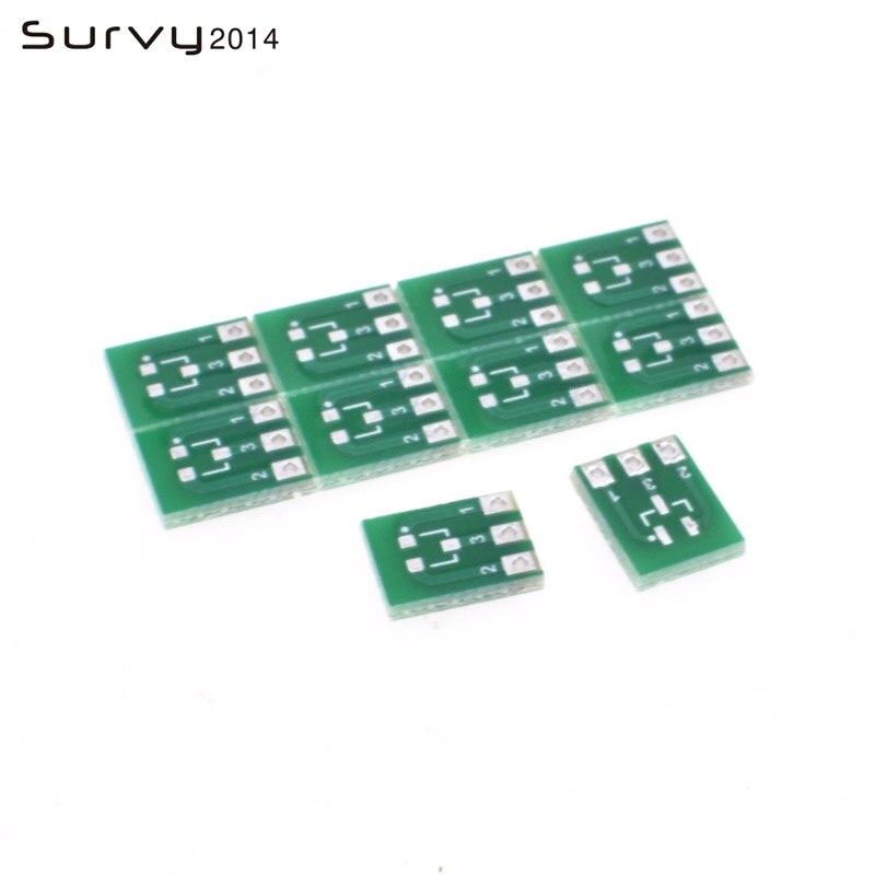 20 piezas SMD de doble cara SOT23-3 A DIP SIP3 adaptador PCB tablero DIY convertidor