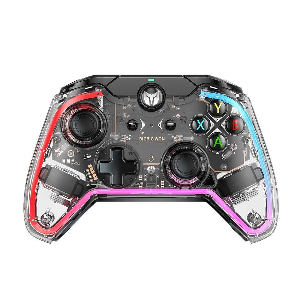 BIGBIG WON Wired Controller For Switch / PS5 /PS4/PC With 6-axis Gyro 3.5mm Audio Support RGB Light Effects Somatosensory Assist