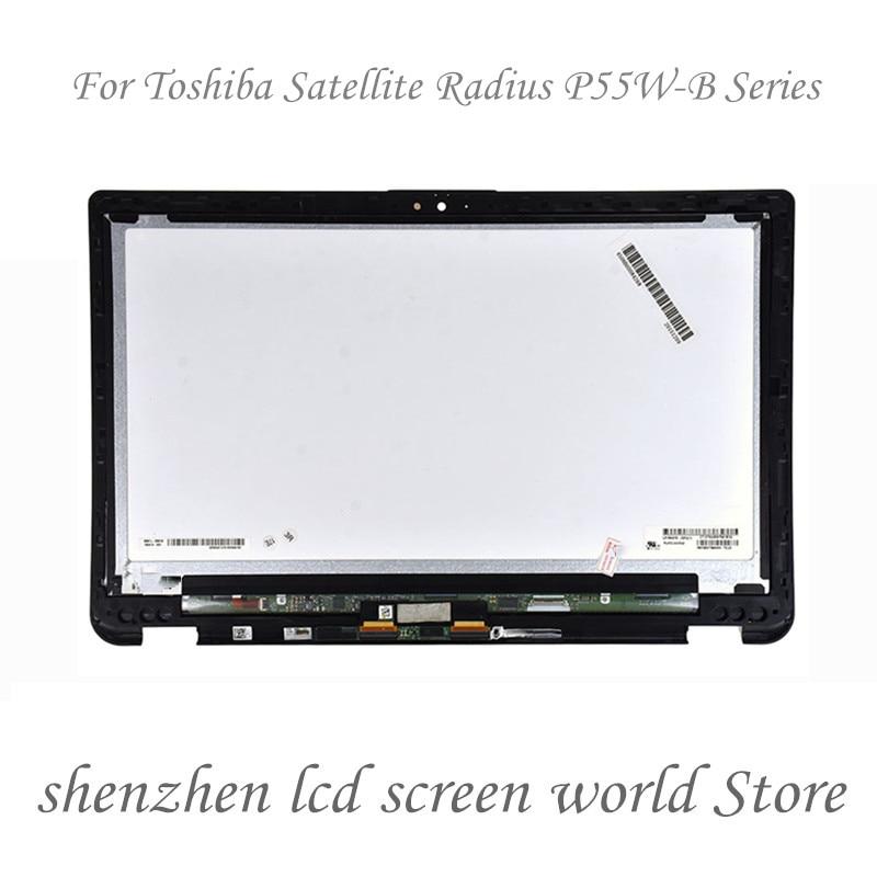 15,6 conjunto de portátil LCD Digitalizador de pantalla táctil con bisel para Toshiba Satellite P55W-B serie P55W-B5112 P55W-B5224