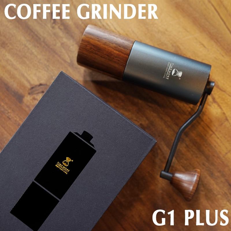 TIMEMORE-آلة اسبريسو محمولة G1 Plus ، آلة قهوة يدوية منزلية احترافية ، محمل مزدوج ، قلب فولاذي