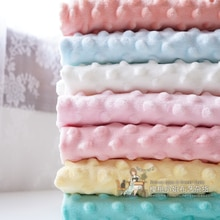 150x 50cm Beanie Surface Baby Fabric Ins Handmade DIY Winter Bed Sheet Remnant Cloth Solid Color Plu