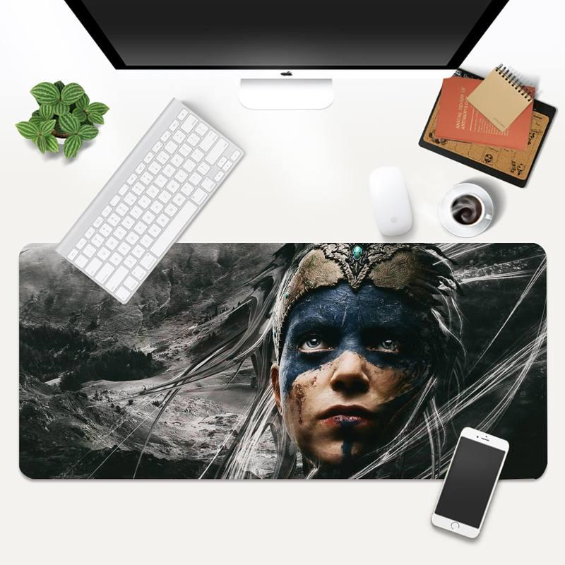 Коврик для мыши Hellblade 2, большой игровой коврик для клавиатуры, ноутбука, компьютера, планшета, настольного компьютера, XL