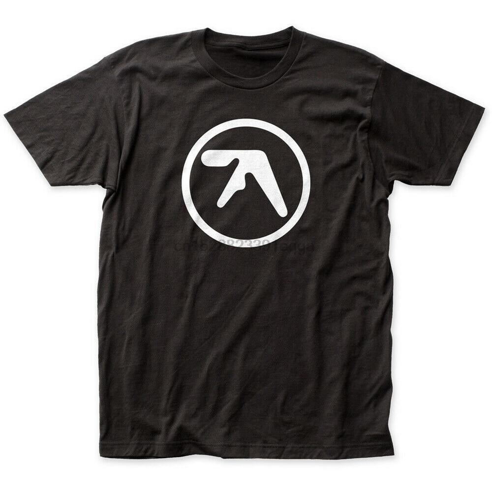 Aphex twin logo cabido camisa de algodão unisex t m xl 2xl 6xl