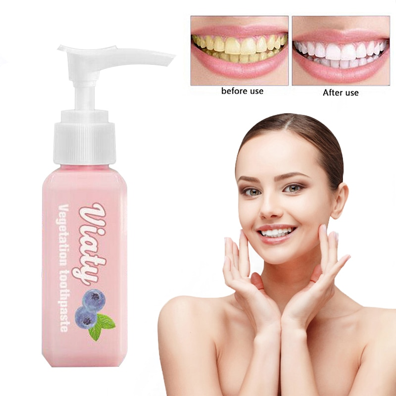 1PC Viaty grape flavor Push Type Cranberry Greenery Tooth Whitening Toothpaste Beauty Health Teeth B