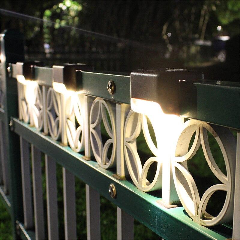 1 шт. светодиодный подсветка лестницы на солнечной лампы IP65 Водонепроницаемый Открытый Садовая дорожка дворик Лестницы шаги светильники на...