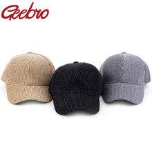 Geebro-casquette de Baseball pour hommes   Casquette de camionneur, casquette de mode Sport voyage, couleur unie, côtelée, chapeau de papa, printemps et extérieur