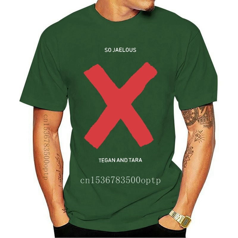 New So Jealous X Tegan And Sara Short Sleeve Regular Tees Black Mens T Shirt