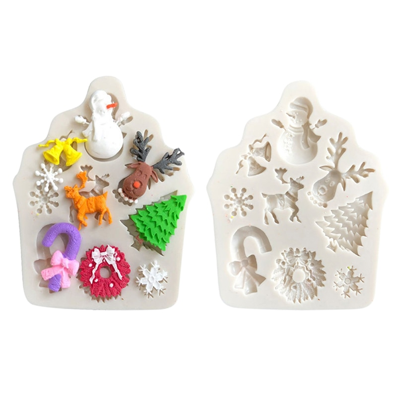 Christmas Tree Fondant Cake Silicone Mold Christmas Cake Decorating Tools Cupcake Chocolate Biscuits Candy Mold DIY Baking Mould 1pc round silicone cake mold 3d chocolate muffin cupcake candy mold diy fondant cake decorating tools