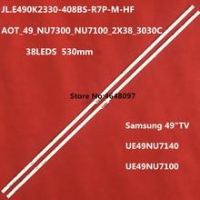 "Led-hintergrundbeleuchtung streifen bar 38 lampe für Samsung 49 ""TV AOT_49_NU7300_NU7100_2X38_3030C_d6t-2d1_19S2P rev.v4 UE49NU7140 UE49NU7100"