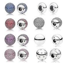 Authentic S925 Sterling Silver Bracelet Bangle Single Crystal Ball Chain Head Fit Original DIY Open Bracelet Accessories
