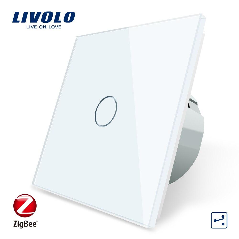 Livolo زيجبي الذكية واي فاي مفتاح الإضاءة ، أتمتة ذكي لاسلكي 1 عصابة 2Way APP التحكم ، والعمل من قبل جوجل المنزل ، اليكسا C701SZ