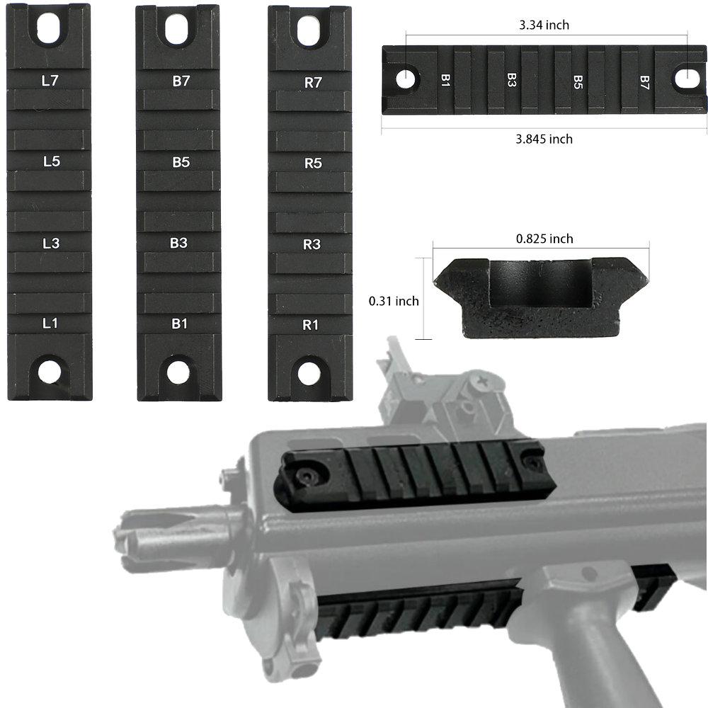 Охотничья съемка тактический Пикатинни База Набор для G36 G36C серии крепление базовое кольцо 3 короткие части для прицел тактический
