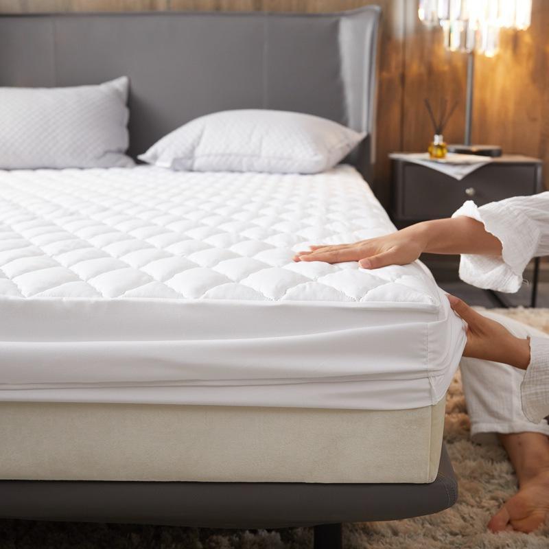 Bonenjoy مبطن غطاء السرير الأبيض فراش مقاوم للماء يغطي الملك الحجم رشاقته ملء السرير وسادة مرتبة حجم كوين كوفر 180*200
