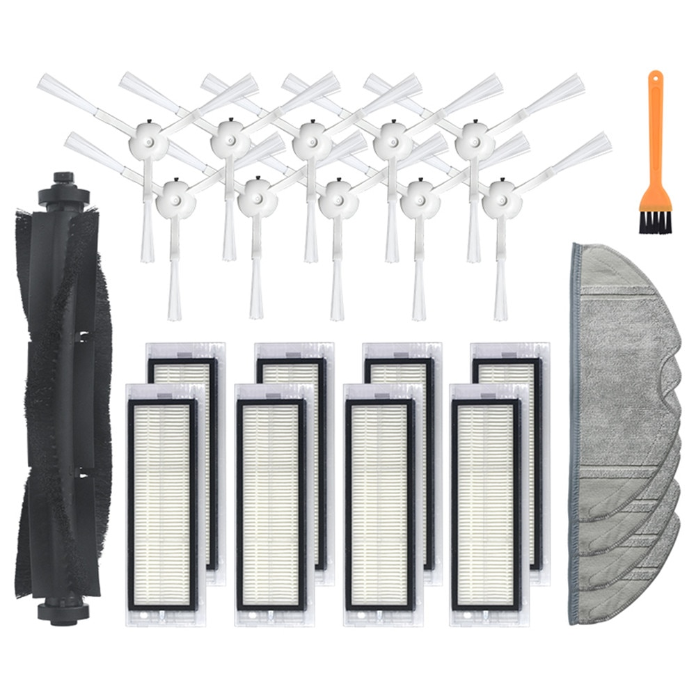 Varrendo robô rolo escova escovas laterais filtro hepa pano de limpeza trapos pentes para 360 s5 s7 varrendo robô aspirador de pó peças