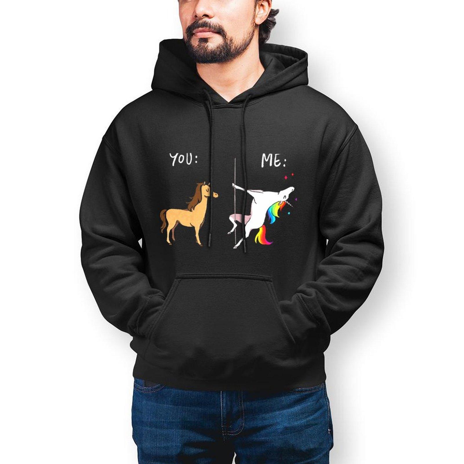 Толстовка с капюшоном с изображением лошади, хлопковый пуловер для улицы, толстовка, зимняя длинная Крутая толстовка для мужчин XL