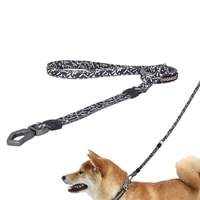 reflective double handle dog leash heavy duty pet dog lead mesh padded 2 handles leashes training control for small large dogs