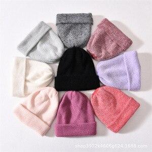 VISROVER 13 Colors New Unisex Rabbit fur Woman Winter Hat Soft Autumn Cap Best Matched Cashmere Woman Warm Skullies Beanie Gift