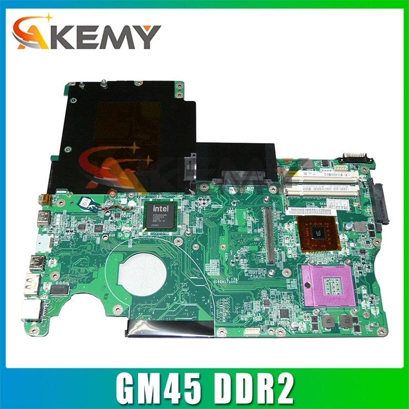 AKEMY DA0TZ1MB8D0 A000052110 لتوتوشيبا الأقمار الصناعية P500 P500-12D اللوحة الأم للكمبيوتر المحمول GM45 DDR2 مع الرسومات 18.5 ''وحدة المعالجة المركزية الحرة