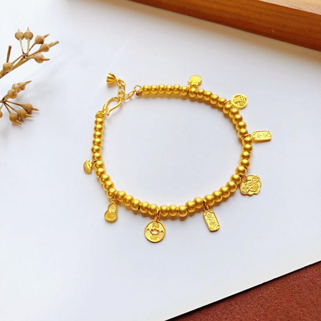HX 24K Pure Gold Bracelet Real 999 Solid Gold Bangle Upscale Beautiful Romantic Trendy Classic Jewel