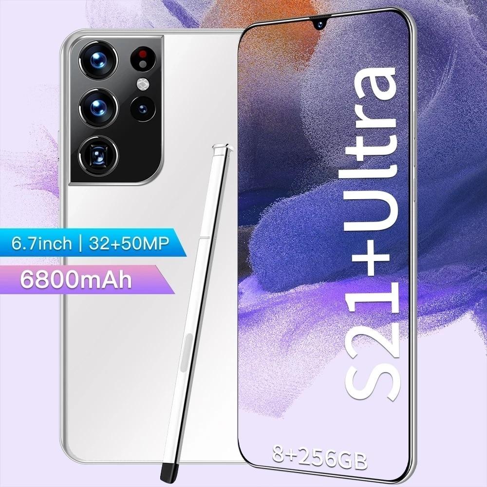 Samsvng galaxy s21 + ultra 6.7 polegada smartphone 4g/5g desbloqueado 32mp + 50mp 16gb + 512gb 6800mah versão global telefones enlarge