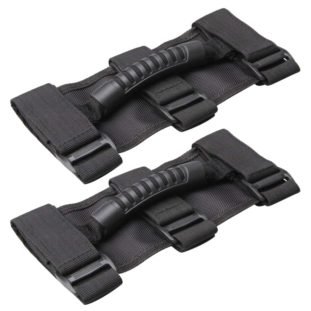 2x Roll Bar Grab Handles Grib Hand Holder For Jeep Wrangler JK TJ 24X10cm