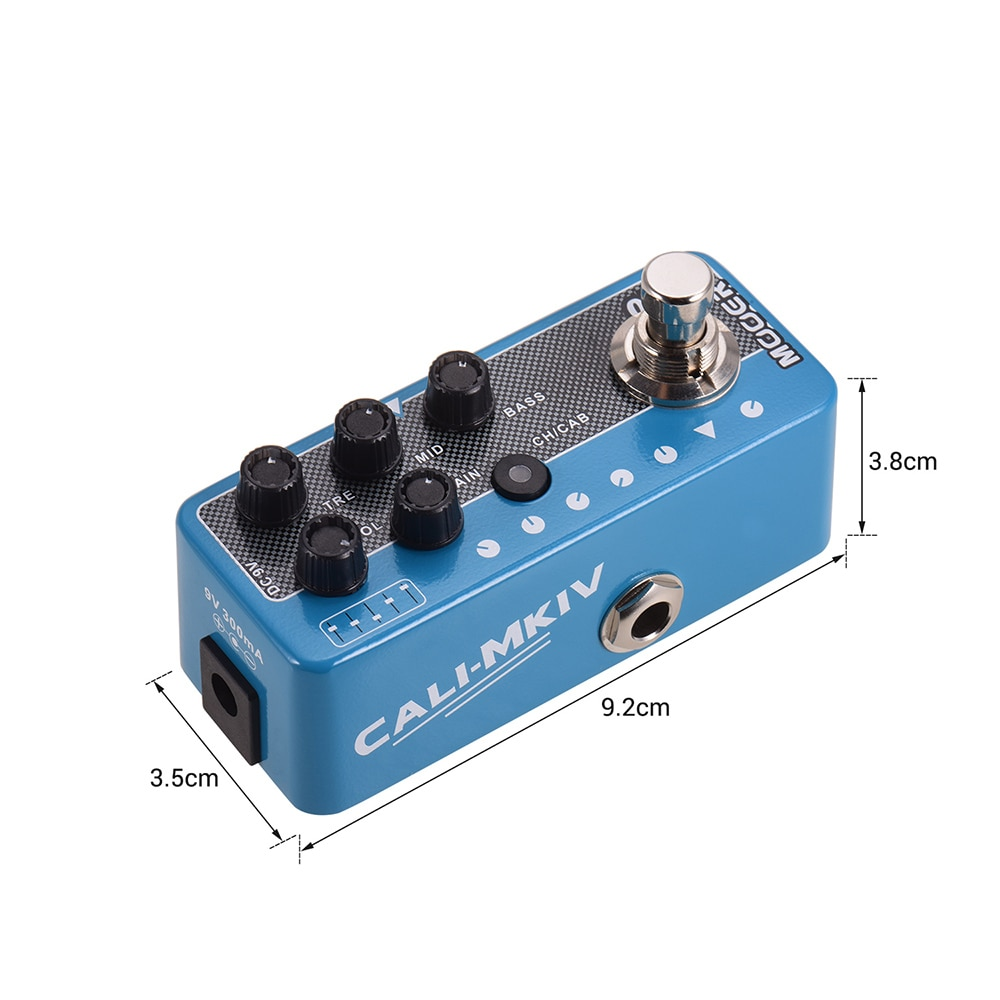MOOER 017 CALI MK IV Channels 3 Digital Preamp Guitar Pedal Electric for Guitar Parts Accessories Effector Mixer Synthesizer enlarge