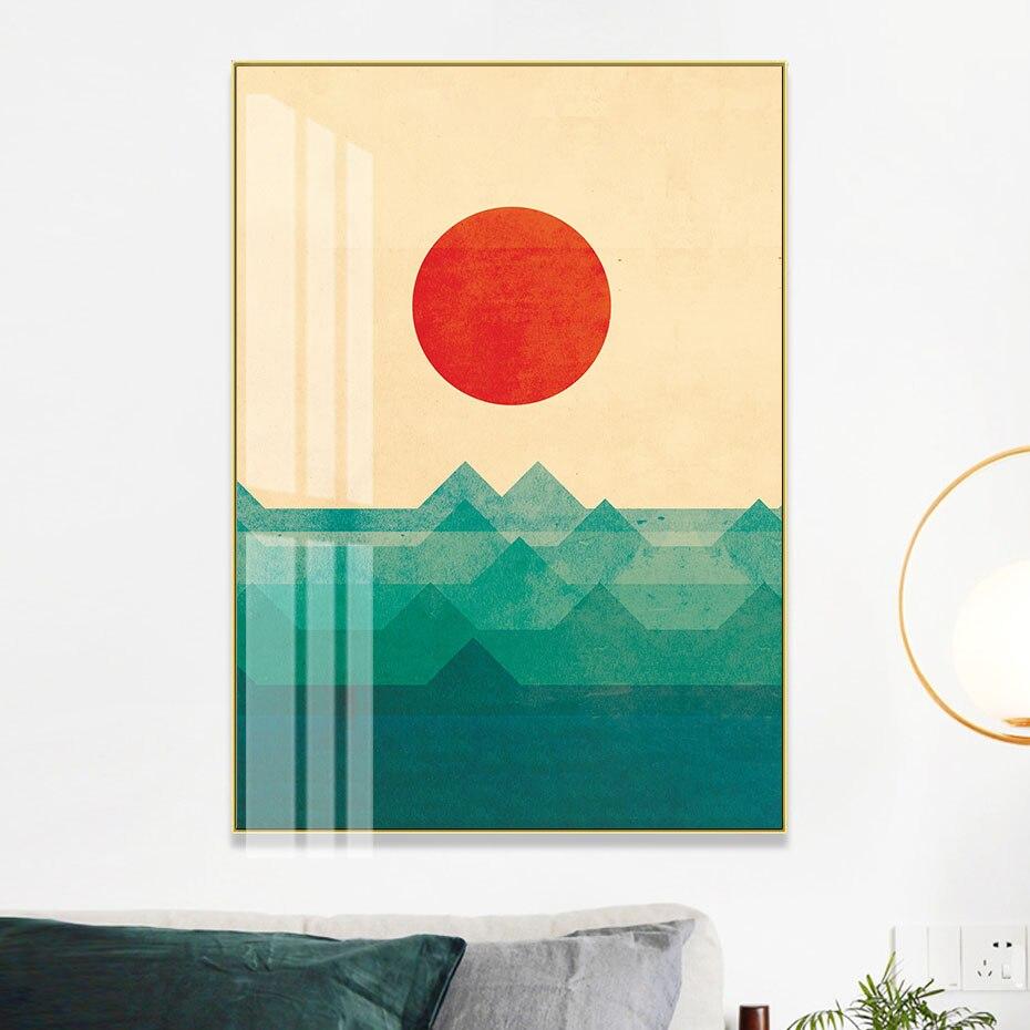 Muro de escena de ola de mar abstracta de océano, arte en lienzo impreso, pintura, póster, Impresión de galería para sala de estar, decoraciones para el hogar