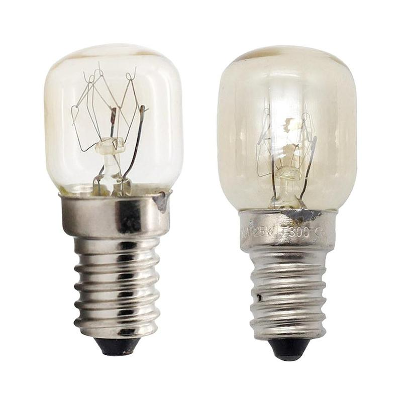 15W 25W Mini bombilla 300 grados de alta temperatura horno tostador vapor bombillas campana extractora lámpara sal bombilla luz para el hogar