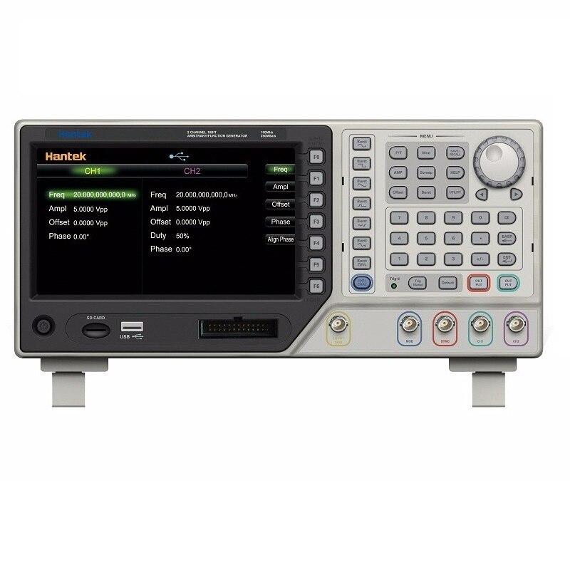 Hantek hdg2022b gerador de sinal 2ch 20 mhz 250msa/s dds função sinal gerador de forma de onda arbitrária gener 64 m memória usb
