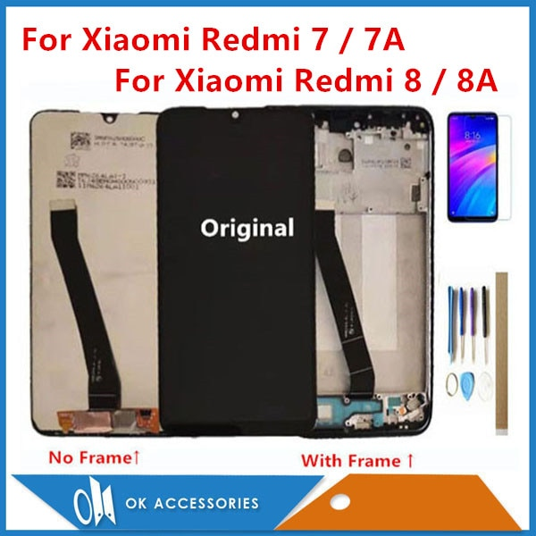 Haute+qualit%C3%A9+pour+Xiaomi+Redmi+7+Redmi+7A+Redmi+8+Redmi+8A+Redmi+9A%2F9C+%C3%A9cran+LCD+avec+%C3%A9cran+tactile+avec+cadre+avec+Kits