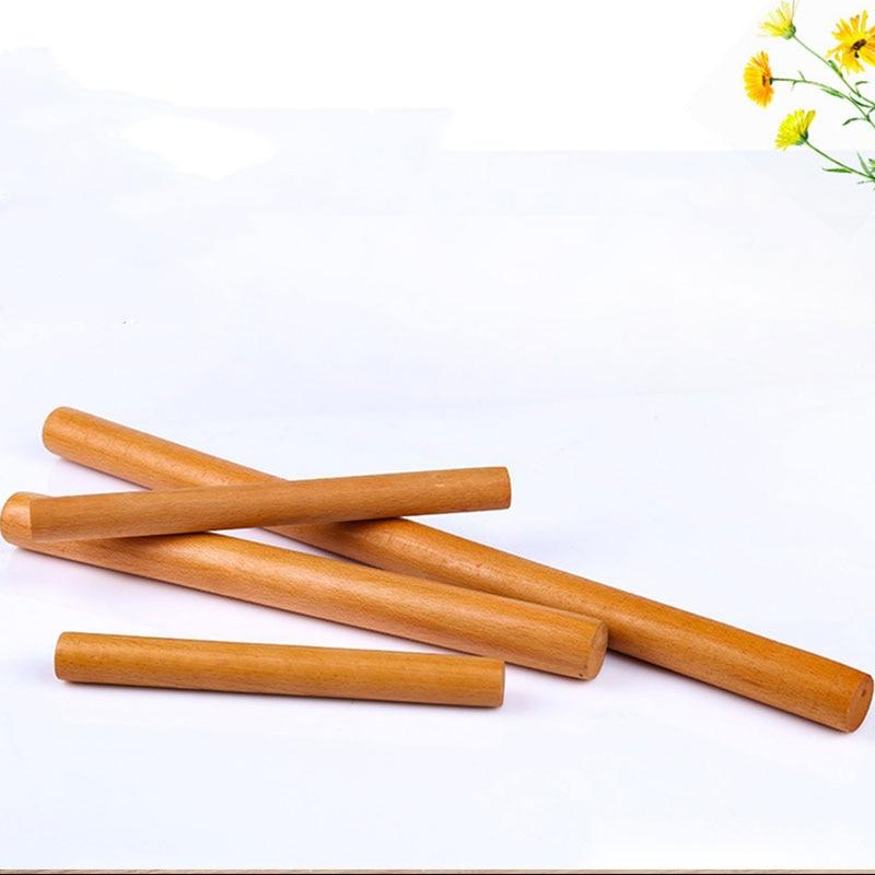 Rodillo de madera maciza hogar Fondant arcilla rodillo Pizza Pasta rollo hornear accesorios para pasteles