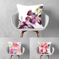 nordic style plant flower series pillow cushion living room pillows bed head backrest pillow pillowcase afternoon nap pillow