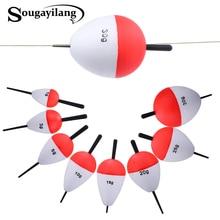 Sougayilang 8pcs/lot EPS Fishing Floats Set 1-30g High Quality Sea Fish Float with Sticks Pesca Fishing Tackle Accessory