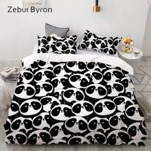 3D Cartoon Kids Bedding Set for children/baby,Custom/King/Europe Duvet Cover Set,Quilt/Blanket Cover Set,Black white panda