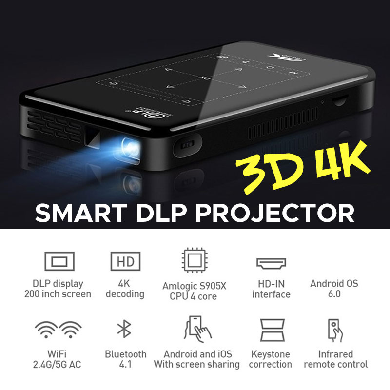 Lecteur multimédia pour cinéma et maison   Écran Full HD, USB DLP, WIFI 5G, HDMI, Home HD, Bluetooth, Portable, 4K