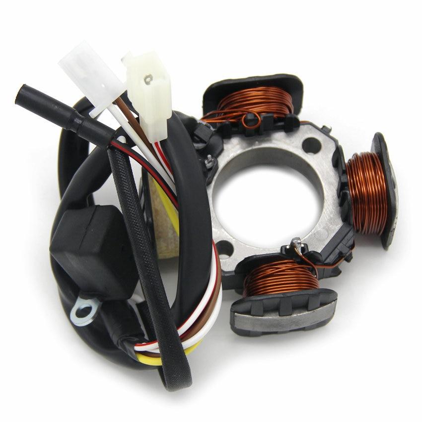 Accesorios de la motocicleta Magneto Motor estator generador bobina para Suzuki 32101-41D01 AG100 dirección V100 3210141D01 Motor Accessori