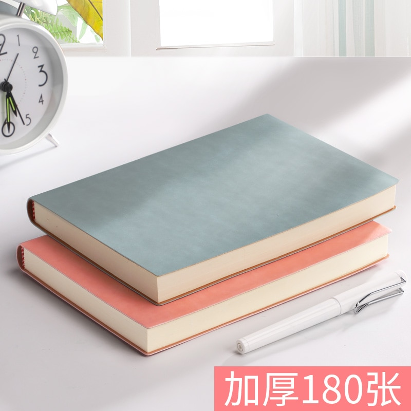 Notebook Thickened A5 Notepad Business Meeting Notebook Literary Exquisite Super Thick Soft Leather Retro Work Diary Small Fresh