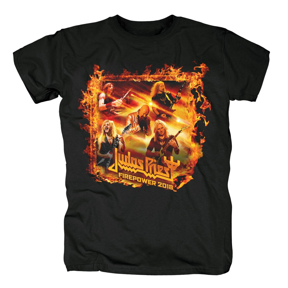 100% coton Judas prêtre Hard Rock Heavy Metal noir nouveau T-shirt taille européenne
