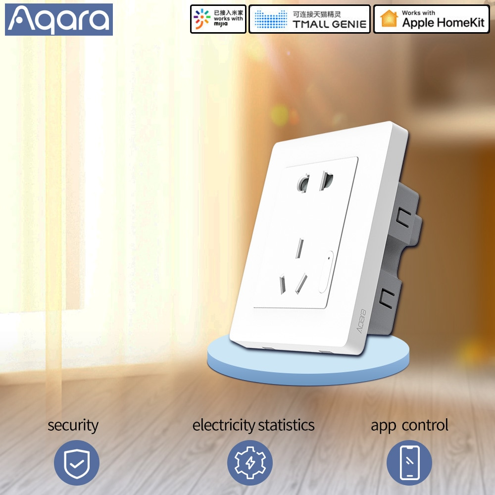 Aqara smart socket wall switch socket Plug zigbee app Wireless remote control smart socket smart home For MIhome app