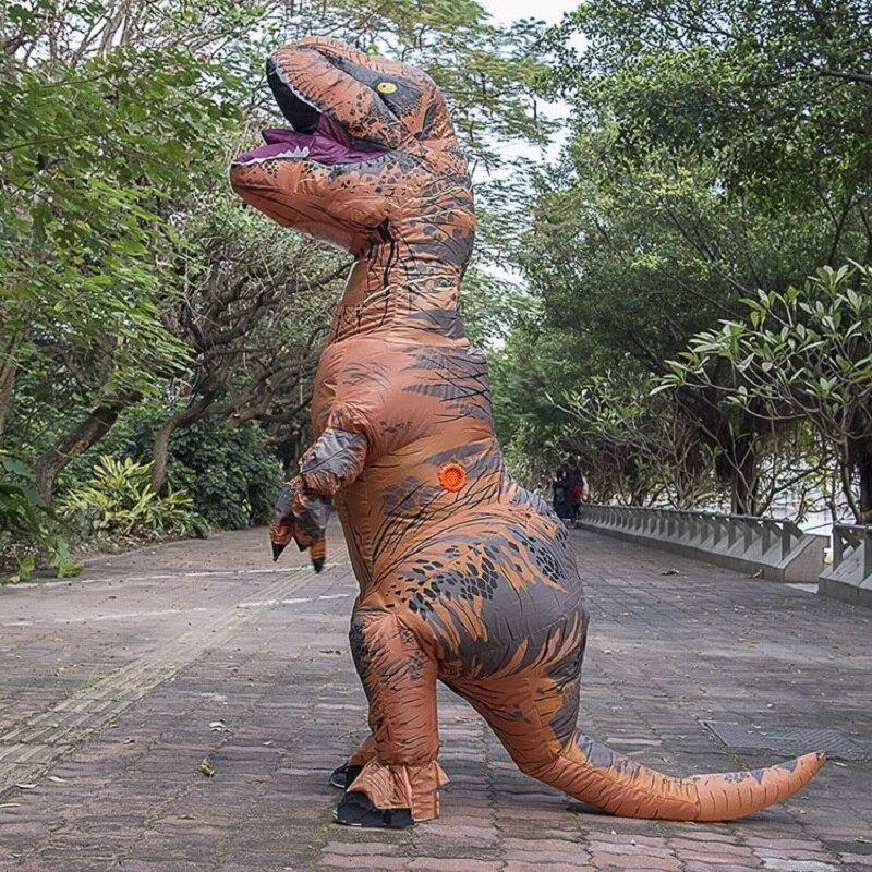زي ديناصور تي ريكس قابل للنفخ للأطفال والكبار ، تأثيري ديناصور ، ملابس أنيمي ، هالوين ، كرنفال ، حفلة