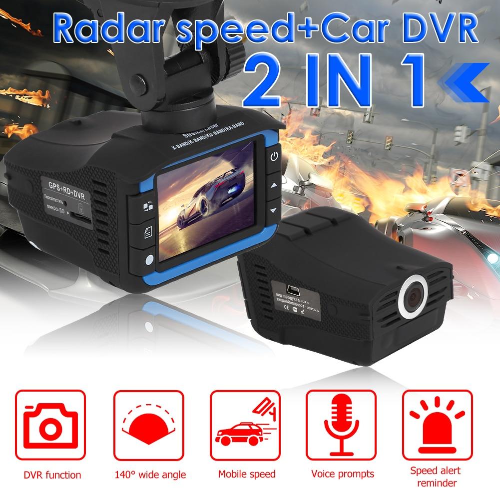 2 in 1 HD 1280p Car DVR Dashboard Camera 140 Wide Angle Lens Radar Detector English Russian Voice Alert Alarm X CT K La Band