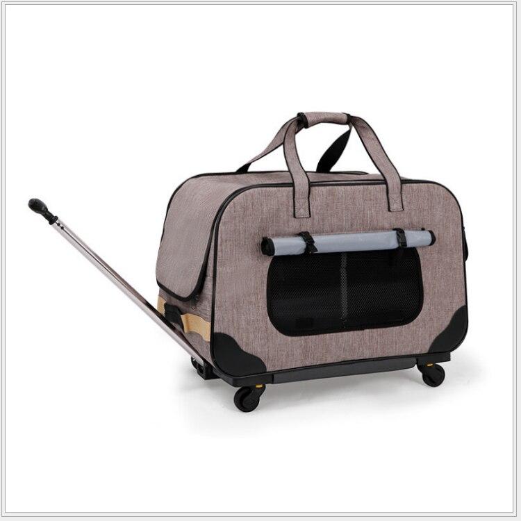 H1 carrito plegable para mascotas, caja para perro de cuatro ruedas, maleta para gato, bolsa transpirable, palanca cerrada, tragaluz panorámica Super