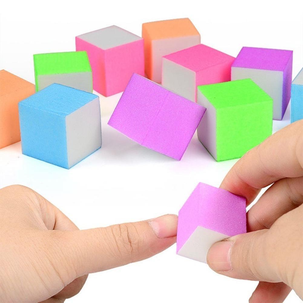 10 uds, Mini bloque de lima de uñas, esponja para lijar, pulidora, removedor de cutícula de rejilla, removedor de cutículas, suministros de uñas acrílicas, juego de herramientas de manicura
