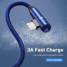 Кабель зарядный Micro USB Type-C, 90 градусов, 1/2 м