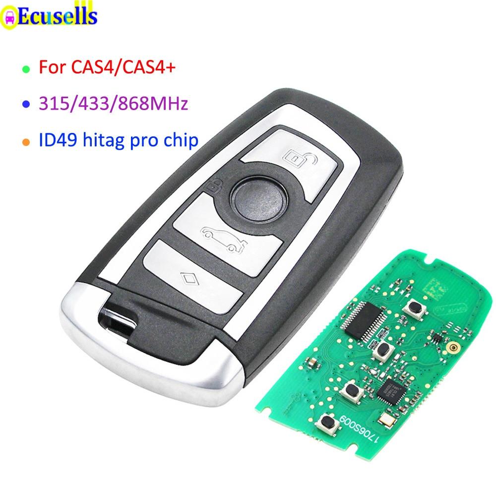 Keyless Remoto inteligente Chave 315Mhz 434Mhz 868MHz para BMW 5 7 Series 528i 530i 535i 550i 740i F01 F10 CAS4 CAS4 + ID49 Ht pro chips