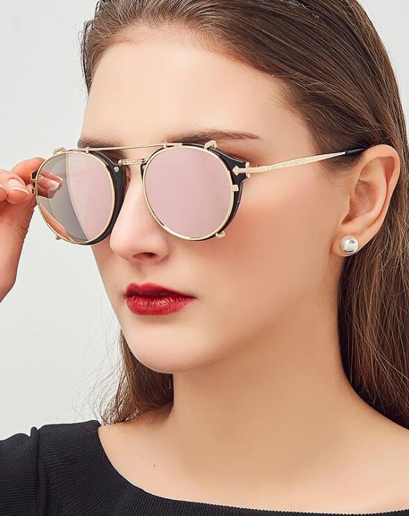 Женские и мужские вечерние солнцезащитные очки в стиле стимпанк, Модные Винтажные Солнцезащитные очки оптом, дизайнерские Брендовые очки