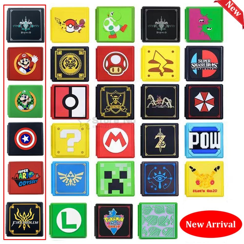 12в1 ударопрочный чехол-книжка для игры с картами, жесткая коробка для Nitendo Switch, аксессуары для хранения игр