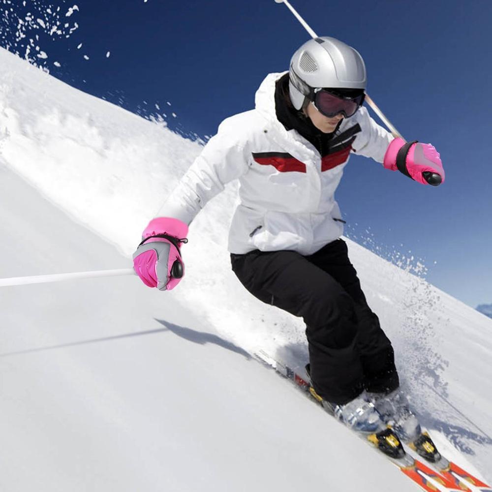 OUTAD, invierno, exterior, forro suave, transpirable, resistente al viento y al agua, guantes de esquí para nieve, guantes cálidos de escalada de montaña para mujeres
